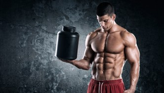Bodybuilder With Protein