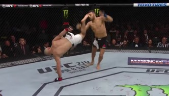 Cartwheel Kick During Vannata Vs. Teymur UFC