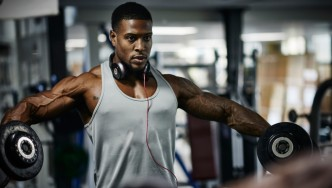 Man Training in the Gym thumbnail