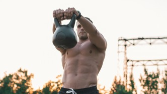 Man Kettlebell Swing