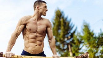 Man Working Out Outdoors