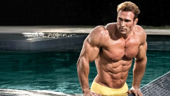 Mike O' Hearn Getting Out Of A Pool