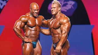 Bodybuilders Jay Cutler and Phil Heath