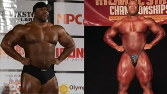 Shawn Rhoden Pittsburgh Pro and Bev Francis Atlantic States Guest Posing