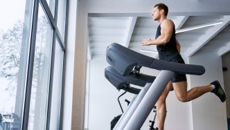 Man Running on Treadmill thumbnail