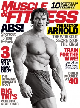 arnold schwarzenegger muscle and fitness cover october 2014