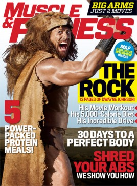 Muscle & Fitness September 2014 Cover - The Rock