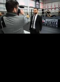 WWE UK champ Finn Balor at the London Performance Center opening