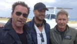 Arnold Teams Up With Harrison on 'Expendables 3' Set thumbnail