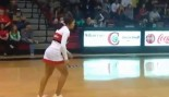 Cheerleader Makes Half-Court Shot Mid-Somersault Look Easy thumbnail