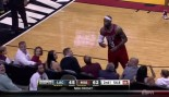 LeBron James Plays Catch with Miami Heat Fan During Game thumbnail