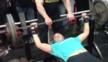 Teenage Girl Benches 265 RAW! thumbnail