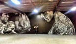 The Rock Tweets Cool Rock/Arnold Time Lapse Mural thumbnail