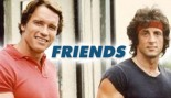 Arnold Schwarzenegger and Sylvester Stallone when they were young men. thumbnail