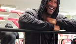 The Rock laughing in the gym. thumbnail