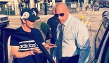 """The Rock and Peter Berg on the set of the pilot episode of """"Ballers."""" thumbnail"""