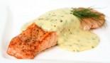 Broiled Salmon With Spiced Yogurt Sauce thumbnail