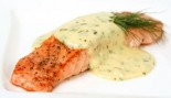 Broiled Salmon With Spiced Yogurt Sauce thumbnail