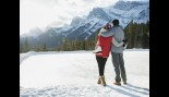 Couple enjoying a day in the snow thumbnail
