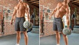 oblique exercises: dumbbell side bend thumbnail