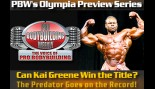 PBW's OLYMPIA PREVIEW SERIES BEGINS!  thumbnail