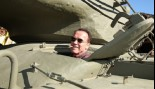 Schwarzenegger Runs Over Car with Personal Tank  thumbnail