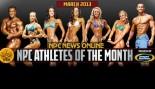 NPC and Gaspari Announce Mar 2013 Athletes of the Month thumbnail