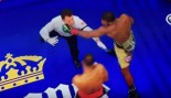 Boxer Almost Knocks Out Referee, Then Catches Him  thumbnail