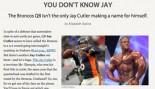 JAY CUTLERS ON ESPN.COM thumbnail