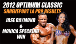 2012 Optimum Classic Shreveport LA Pro Results: Jose Raymond & Monica Specking Win  thumbnail
