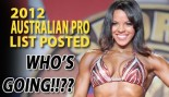 2012 Australian Pro Competitor List Now Posted thumbnail