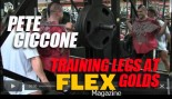 Pete Ciccone Trains Legs at Golds Gym Venice thumbnail
