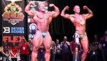 Phil Heath and Adaptive Class Winner Mark Smith Pose Down thumbnail