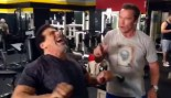 Schwarzenegger and Ferrigno Get Pumped at Gold's thumbnail
