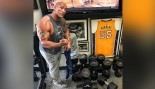 The Rock Names His 150-Pound Dumbbells After Kevin Hart thumbnail
