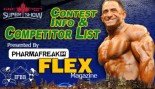 2012 Toronto Pro Contest Information and Competitor's List thumbnail