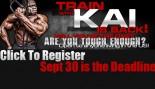 Announcement: Train with Kai Greene 2012  thumbnail
