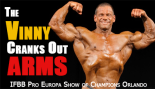 Vinny Galanti Cranks Out Arm Workout 2 Weeks from Orlando Show of Champions  thumbnail