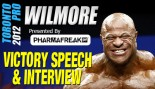 Bill Wilmore's Victory Speech and Interview at the 2012 Toronto Pro thumbnail