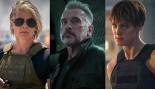 Terminator: Dark Fate Cast: Linda Hamilton, Mackenzie Davis, Arnold Schwarzenegger thumbnail