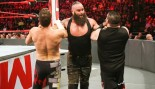 Braun Strowman takes on Kevin Owens and Sami Zayn on WWE Monday Night RAW. thumbnail