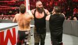 Braun Strowman takes on Kevin Owens and Sami Zayn on WWE Monday Night RAW. thumbnail