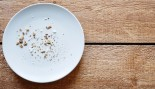 An empty plate of crumbs thumbnail