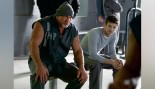 Bill Goldberg as Big Sir and Grant Gustin as Barry Allen thumbnail