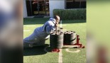 James Harrison performing a heavy sled push  thumbnail