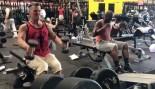 Josh Brolin performing neutral-grip shoulder raises in gym thumbnail