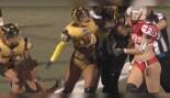 LFL Omaha Heart's Amanda Hogan Punches Pittsburgh Rebellion's Sonia Osselborn thumbnail