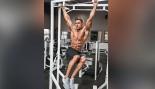 Ryan Terry performing hanging leg raise thumbnail