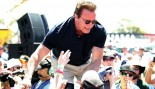 Arnold-Schwarzenegger Shaking Hands In Crowd thumbnail
