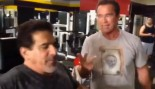 Schwarzenegger and Ferrigno Get Pumped at Golds thumbnail